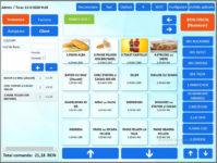 Aplicație de bază pentru vânzare simplă în bar & restaurant și magazine, folosind scanare coduri bare, monitor touchscreen.